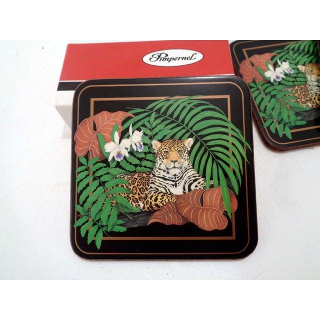 Vintage Pimpernel Lynn Chase Jaguar Drink Coasters- S/6 For Sale In Nashville - Image 6 of 9