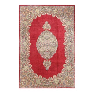 """Pasargad Semi-Antique Persian Royal Kerman Hand-Knotted Rug - 13′ × 19'8"""" For Sale"""