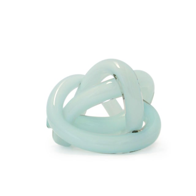 Abstract SkLO Wrap Object Glass Knot - Celadon Green For Sale - Image 3 of 4