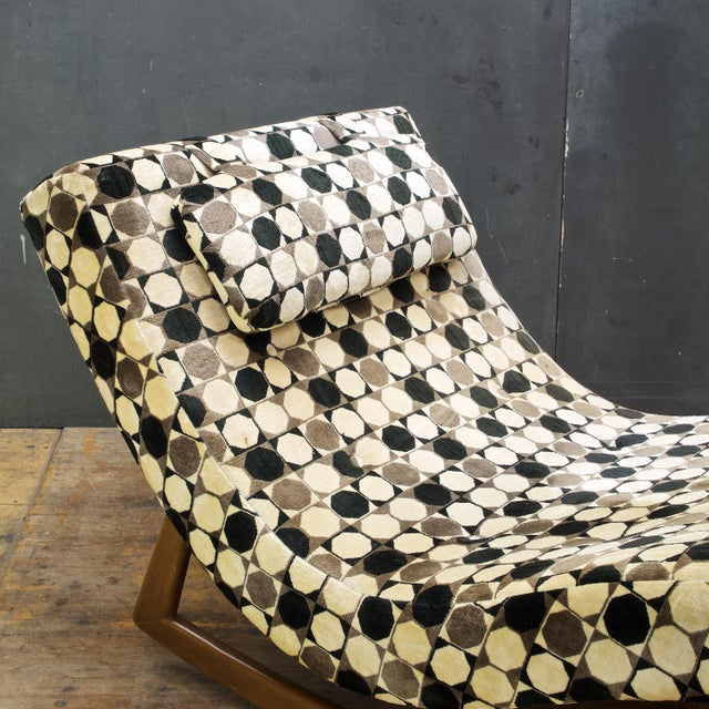 Textile Adrian Pearsall Wave Rocker Chaise Rocking Chair For Sale - Image 7 of 9