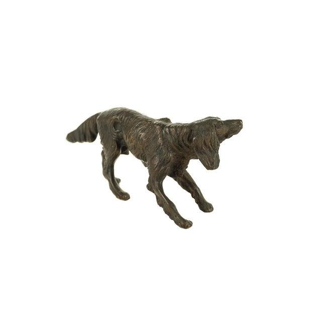 Bronze Vintage Austrian Bronze Setter Dog Figurine For Sale - Image 7 of 9