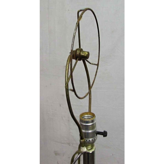 Metal Standing Chrome Floor Lamp For Sale - Image 7 of 7