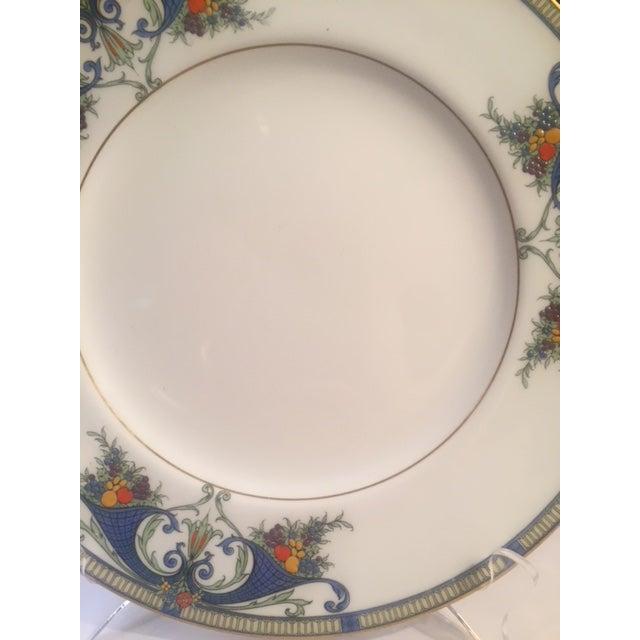 Royal Worcester Porcelain Dinner Plates - Set of 12 For Sale - Image 9 of 12