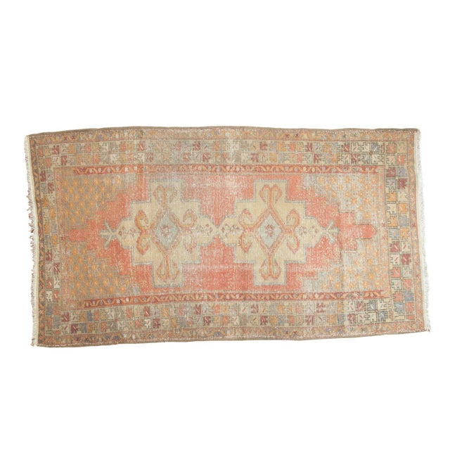"Vintage Distressed Oushak Rug - 4'7"" x 8'4"" For Sale - Image 11 of 11"