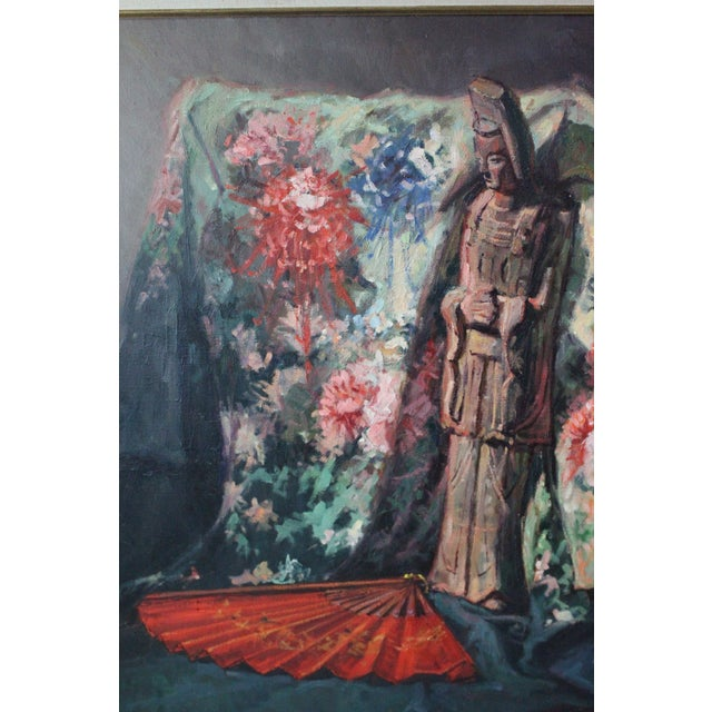 Red Caddell Japanese Scene Painting For Sale - Image 8 of 11