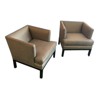 Mid-Century Restored Tuxedo Chairs - a Pair