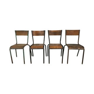 French Industrial Chairs - Set of 4