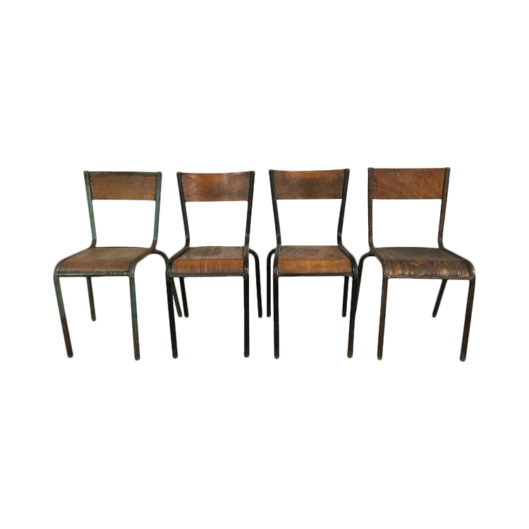 Fabulous French Industrial Chairs Set Of With French Industrial Chairs