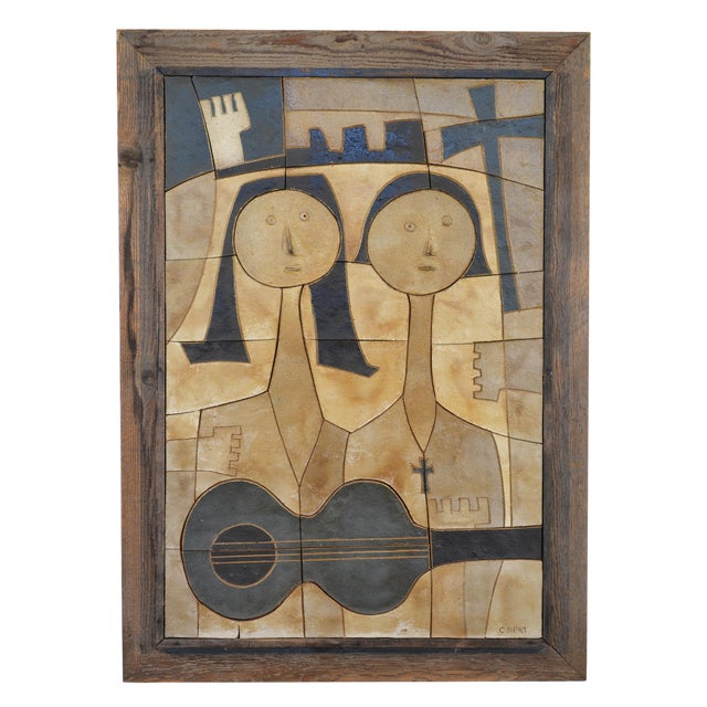 Ceramic Wall Relief by Clyde Burt - Image 1 of 5