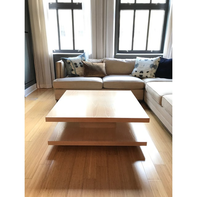 Oak Modern Coffee Table For Sale - Image 7 of 7