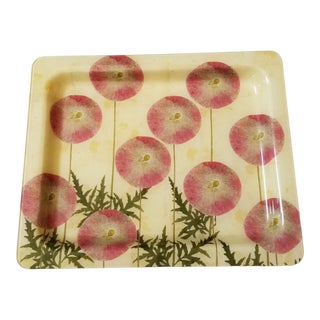 Large John Derian Glass Serving Tray For Sale
