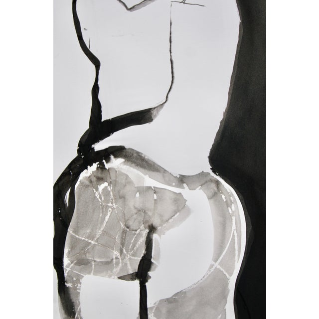 Created in the studio from a live model, using wax resist and Sumi ink.