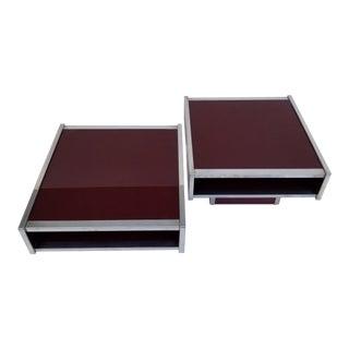 Mid-Century Modern Maison Lancel Side Tables - a Pair For Sale