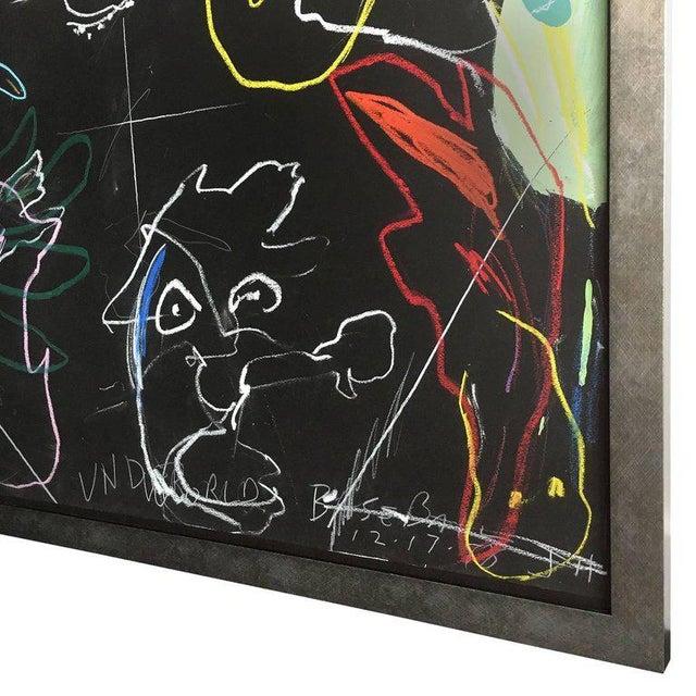 "Blue James C. Harrison ""Underworld / Heavenly Baseball"" Framed Drawings For Sale - Image 8 of 11"