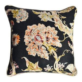 Blue Floral Square Pillow