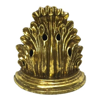 Ceramic Gold Leafed Bookends For Sale