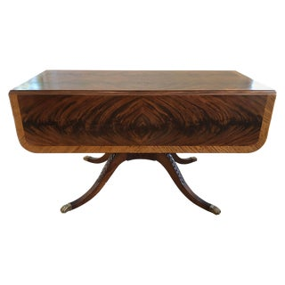 Classical Style Drop-Leaf Library Table For Sale