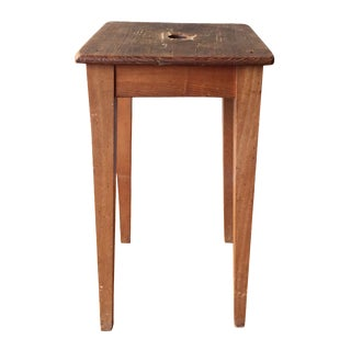 Rustic Tuscan Stool For Sale