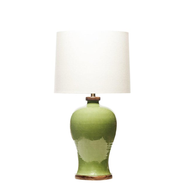 Lawrence & Scott Dashiell Table Lamp in Celadon For Sale