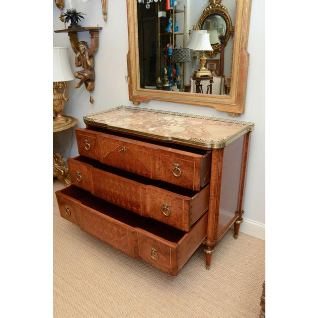 19c. French Parquetry Secretaire / Commode For Sale - Image 4 of 10