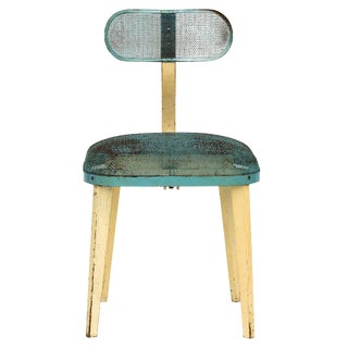 Metal Mesh Chair in the Manner of Jean Prouve For Sale