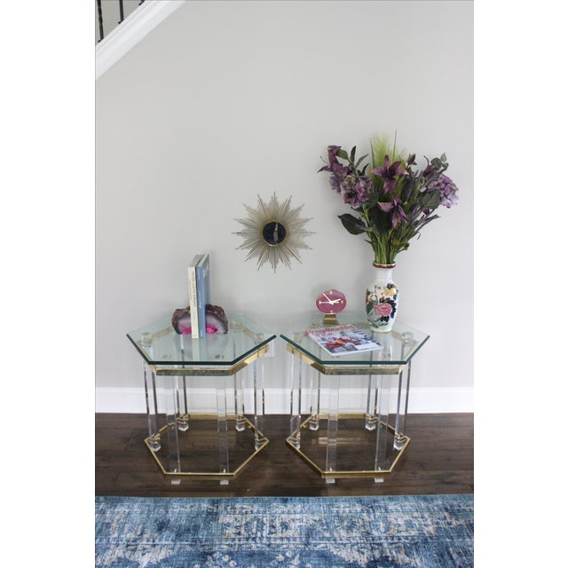Charles Hollis Jones Style Lucite Tables - A Pair - Image 9 of 10