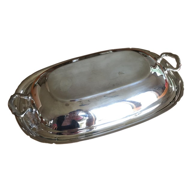 Reed & Barton Silver Plate Covered Vegetable Dish For Sale