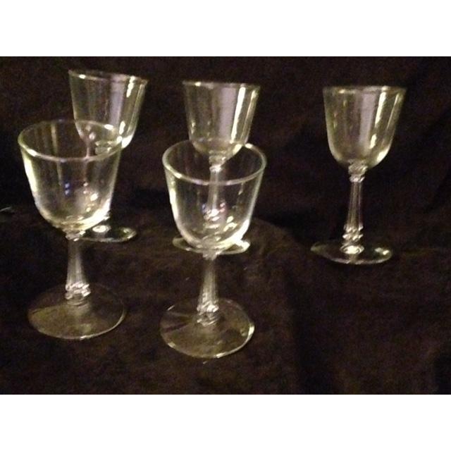 Vintage Wine Glasses - Set of 7 For Sale - Image 4 of 6