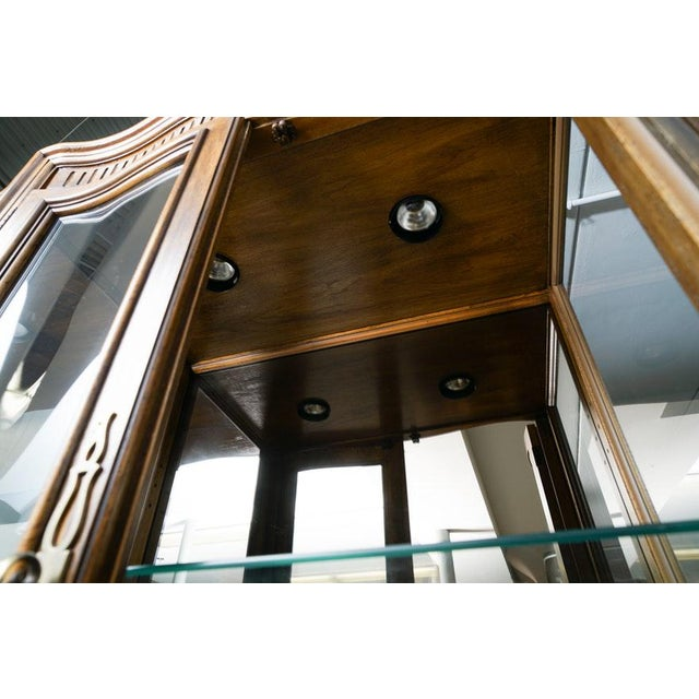 Illuminated Neoclassical Wall Unit Storage Cabinet by Drexel-Heritage For Sale - Image 11 of 13