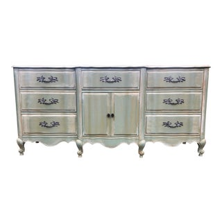 Dixie French Provincial Sage Green Mahogany Buffet For Sale