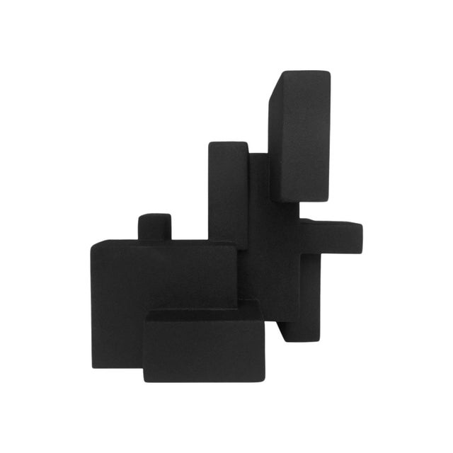 "2010s ""Negative Space 5.3"" Matte Black Sculpture in Rubber Finish by Dan Schneiger For Sale - Image 5 of 5"