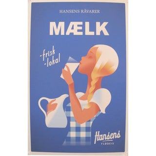 2014 Contemporary Danish Poster, Hansens Maelk For Sale