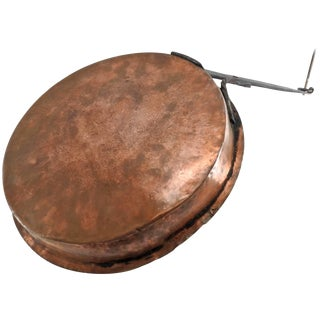 Early 19th Century Antique Copper Jelly Pan From France For Sale