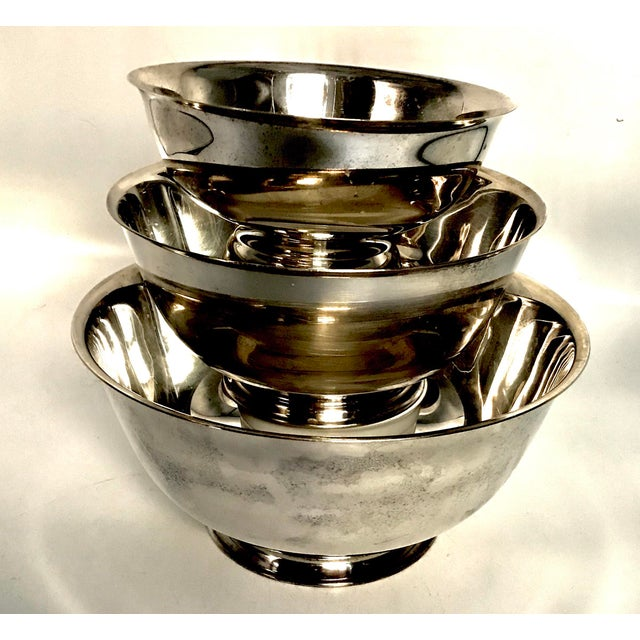 Silver Plate Paul Revere Bowls - Set of 3 - Image 3 of 10