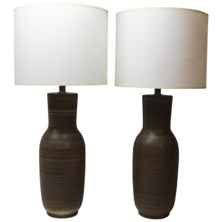 Pair of Tall Ceramic Table Lamps by Design Technics For Sale