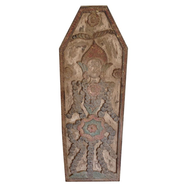 Hindu Carved Wall Hanging - Image 1 of 8