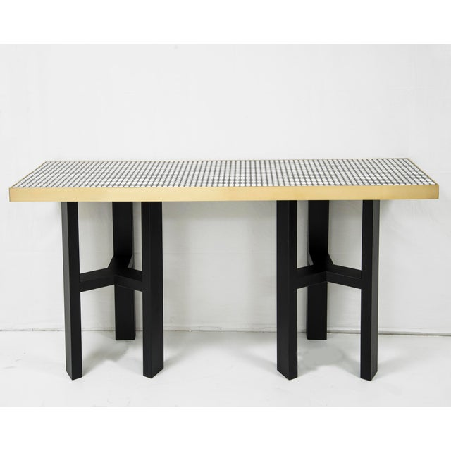 Etienne Allemeersch - Console Made of Round Bones, Resin and Brass, Circa 1970 For Sale - Image 6 of 6