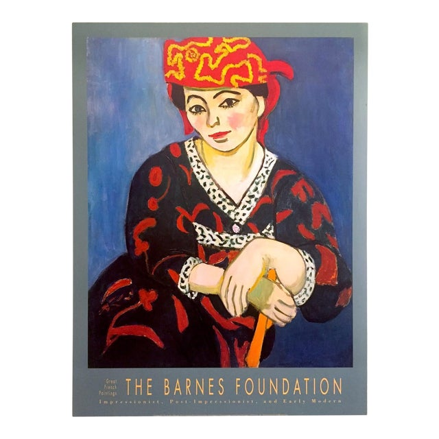 "Henri Matisse Vintage 1991 Lithograph Print Museum Poster "" Madame Matisse Madras Rouge "" 1907 For Sale"