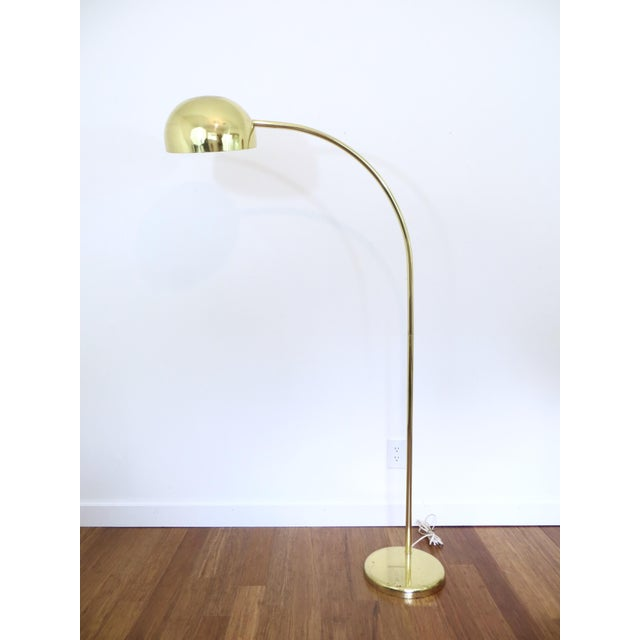 Vintage Brass Arc Floor Lamp - Image 3 of 7