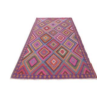 Colorful Vintage Kilim Rug