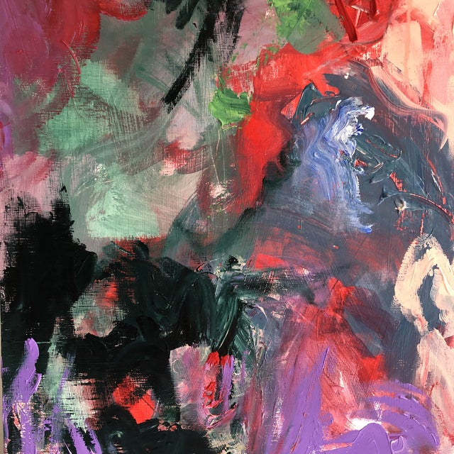 Large Captivating Abstract Painting by Erik Sulander on Wood/Acrylic 48x48x1 we ship for $299.