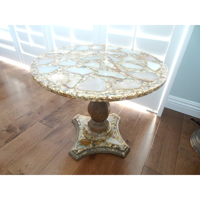 1970s Mexican Marble Side Table For Sale - Image 9 of 9