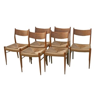 Mid 19th Century Vintage Italian Beechwood Dining Chairs- Set of 6 For Sale