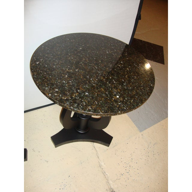Art Deco Ebony Based End Tables - A Pair - Image 8 of 9