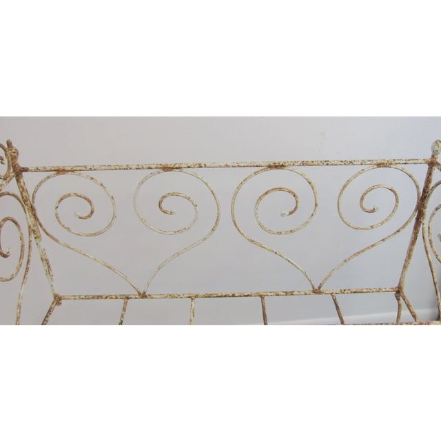 Victorian Antique Wrought Iron Scrollwork Crib - Image 4 of 7