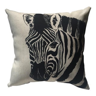Zebra Print Pillow For Sale
