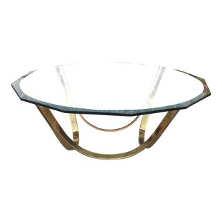 1960s Mid-Century Modern Roger Sprunger for Dunbar Brass Coffee Table For Sale