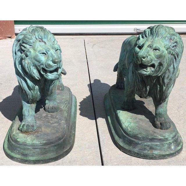 Paul-Edouard Delabrierre Bronze Lions - a Pair For Sale - Image 13 of 13