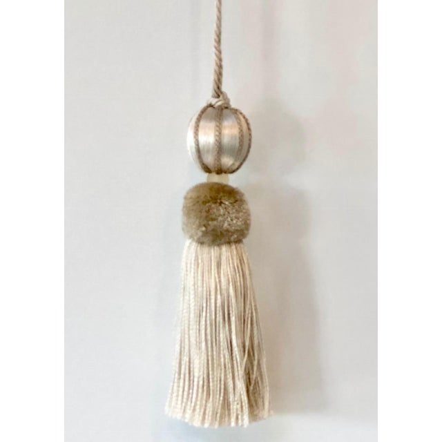 2010s Merrivale Gold Beaded Key Tassel - H 4.5 Inches For Sale - Image 5 of 8