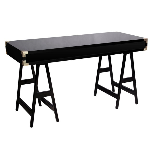 Selamat Designs Chiba Black Lacquer Study Desk - Image 3 of 4